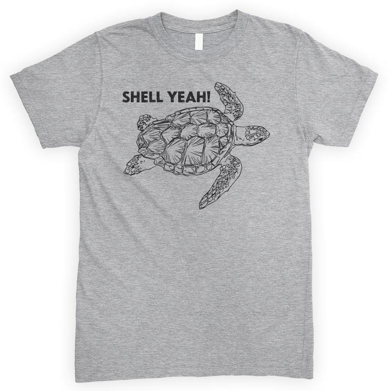 Shell Yeah Turtle Heather Gray Unisex T-shirt
