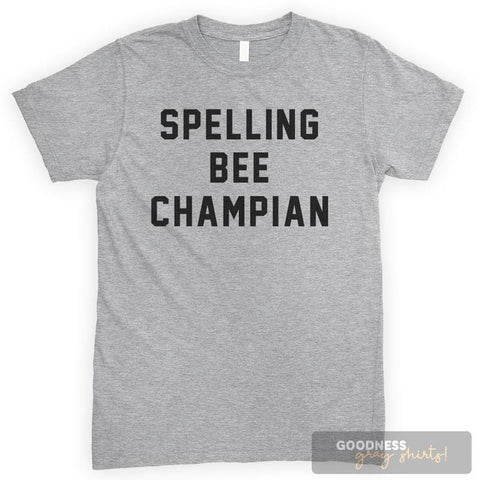 Spelling Bee Champian Heather Gray Unisex T-shirt