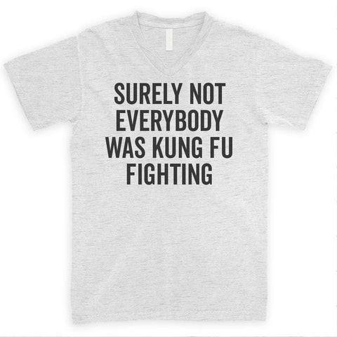 Surely Not Everybody Was Kung Fu Fighting Heather Ash Unisex V-Neck T-shirt