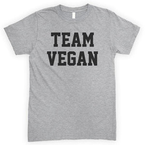 Team Vegan Heather Gray Unisex T-shirt