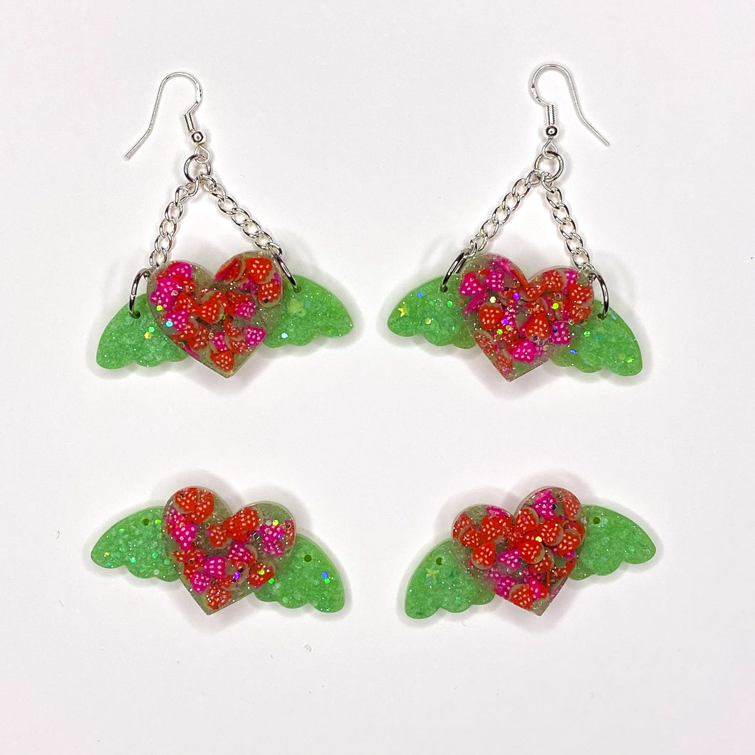 Strawberry Angel Hearts