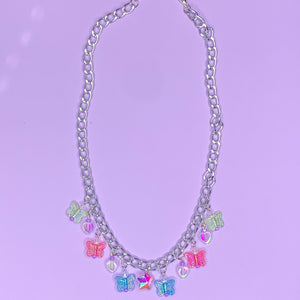 Garden Time Charm Necklace (silver)