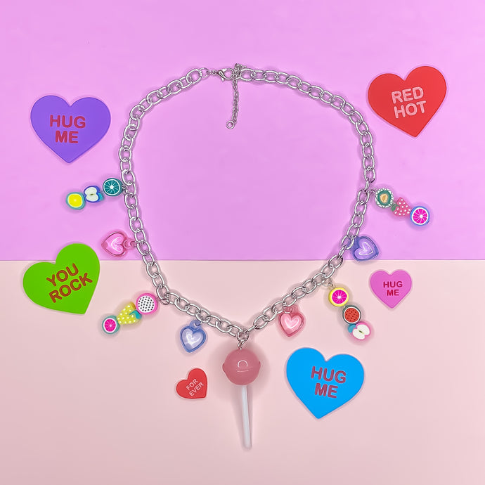 Valentine Candy Charm Chain Necklace