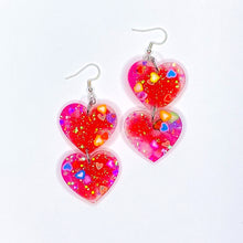 Load image into Gallery viewer, ★★Hawt Luvin Double Heart Dangles x2