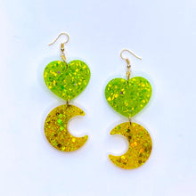 Load image into Gallery viewer, ★★Lemon Lime Moon Dangles