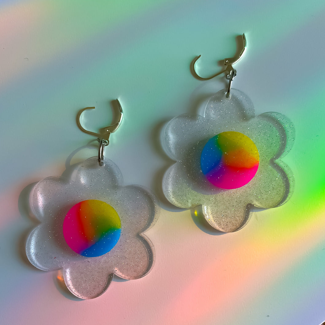 Clear Rainbow Flower ~  *MADE 2 ORDER*