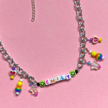 Load image into Gallery viewer, Custom Name Charm Necklace *MADE 2 ORDER*