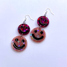 Load image into Gallery viewer, ★★Cherry Sorbet Double Smiley Dangles