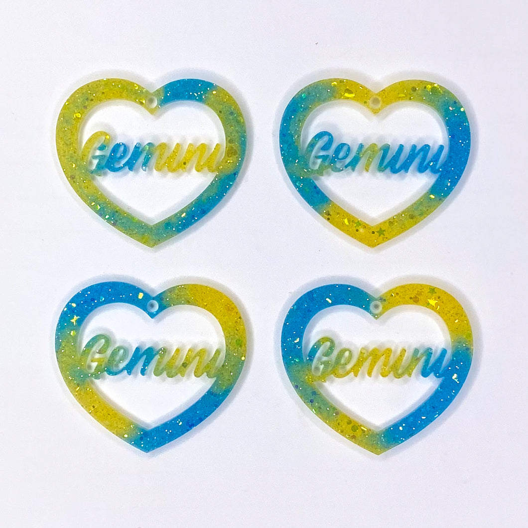 Gemini Zodiac Hearts **SECONDS**