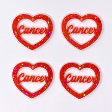 Load image into Gallery viewer, Cancer Zodiac Hearts **SECONDS**