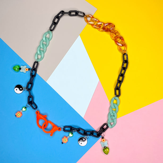 Neon Baby Mixed Mask Chain