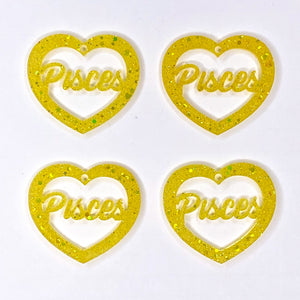 Pisces Zodiac Hearts **SECONDS**