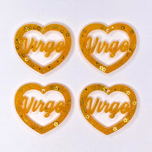 Load image into Gallery viewer, Virgo Zodiac Hearts **SECONDS**
