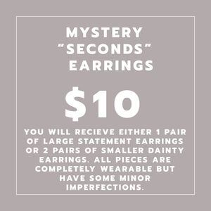 "Mystery Earrings ""SECONDS"""