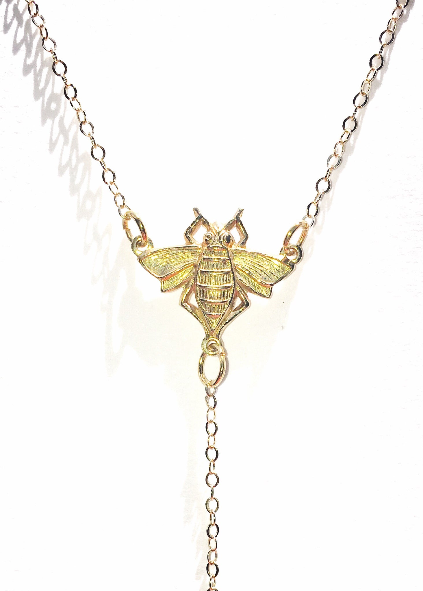 Honeybee Lariat Necklace