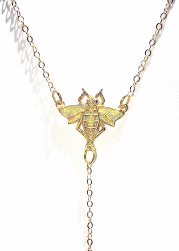 Honeybee Lariat Necklace - Luni