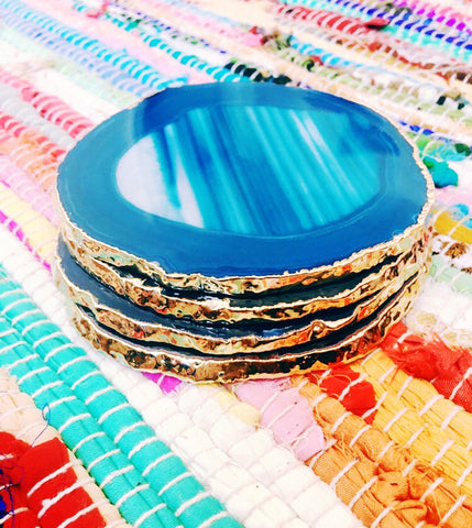Gilded Agate Coasters