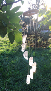 Clear Quartz Point Wind Chime - Luni