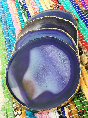 Dyed Agate Coasters