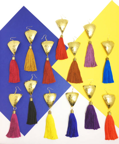 Triangle Fringe Earrings - Luni