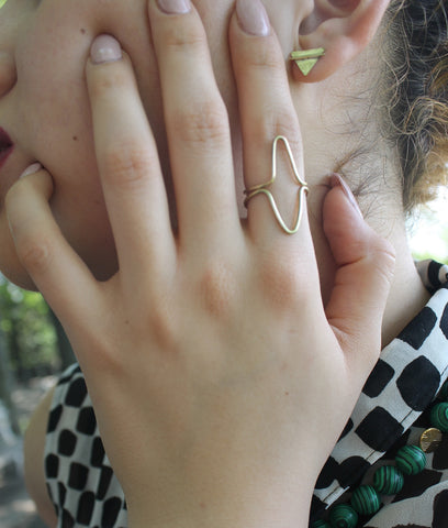 Triangle Duo Ring Set