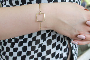 Geo Hook Bangle - Luni