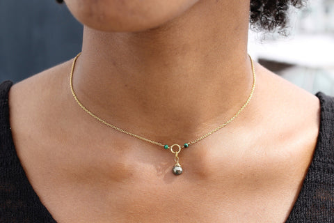 Pyrite Clavicle Necklace