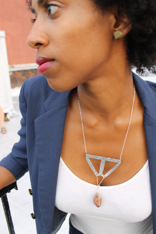 Triangle Pendulum Necklace