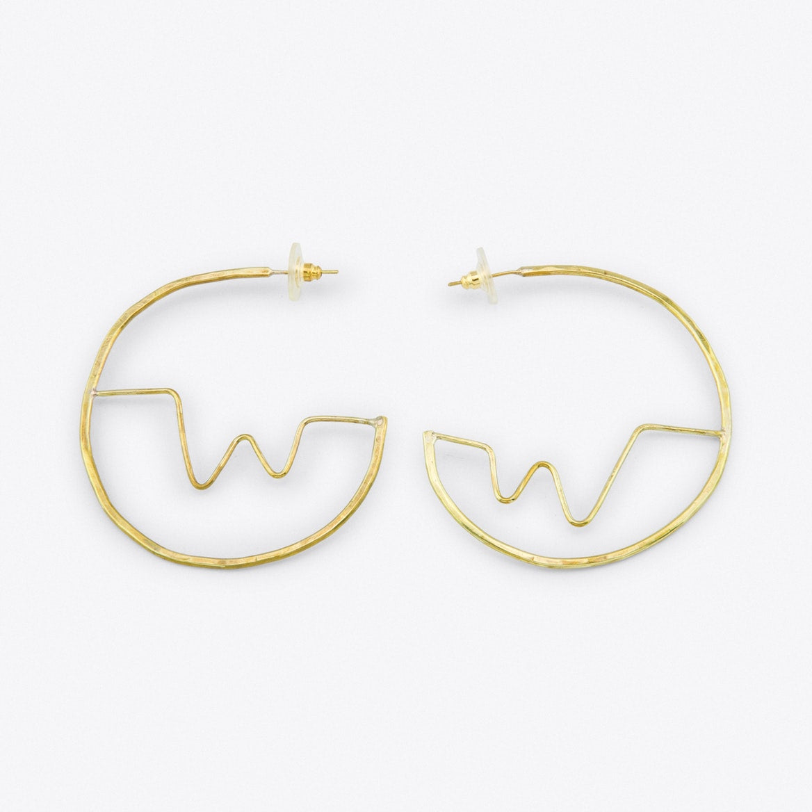 Soundwave Brass Hoops