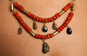 Mystic Coral Necklace - Luni