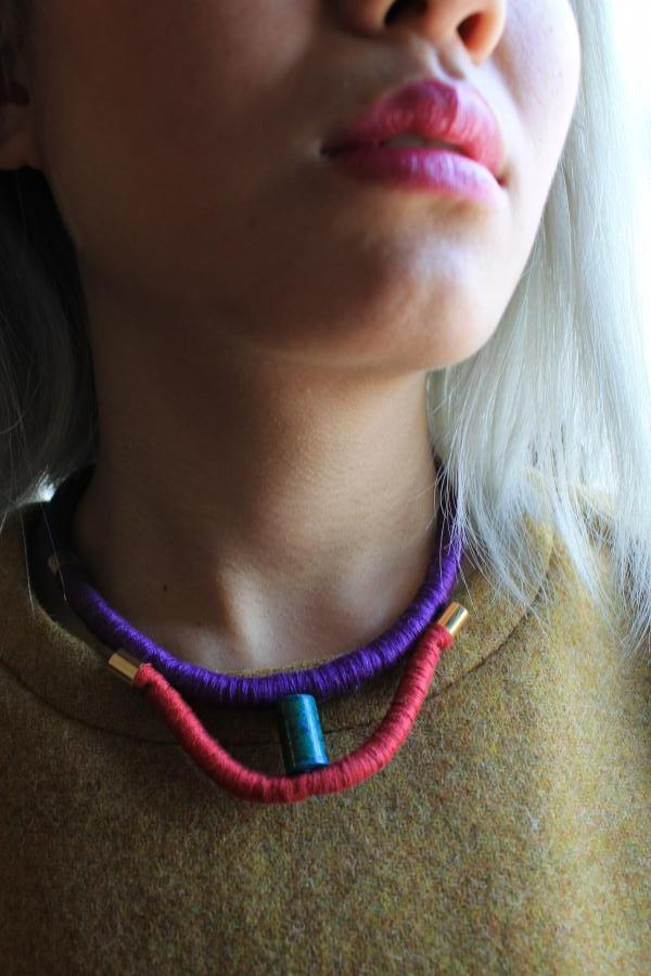 Colorblock Rope Choker