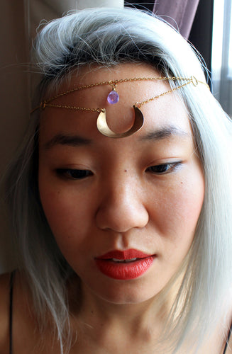 Crescent Moon Headpiece - Luni