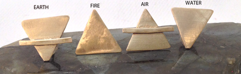Four Elements Studs Set