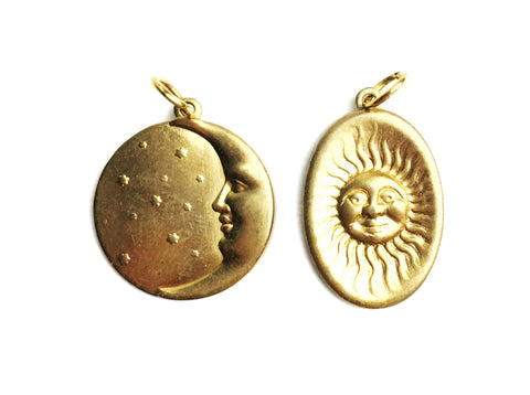 The Sun and Moon Charm Necklace