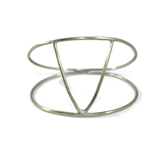 Double V Brass Bangle
