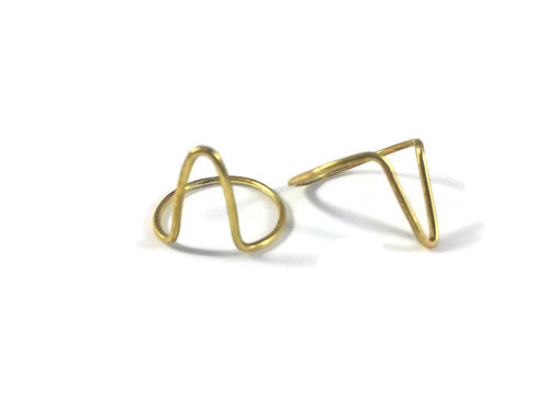 Double Triangle Ring Set - Luni