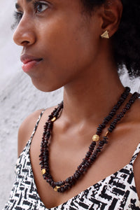 Long Garnet Necklace - Luni