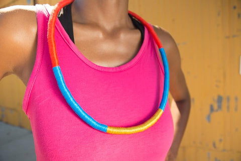 Multi Color Queen Rope Necklace