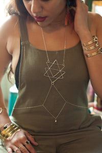 Sacred Triangle Body Chain - Luni