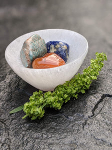 Selenite Bowl - Luni