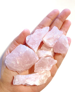 Raw Rose Quartz Stone