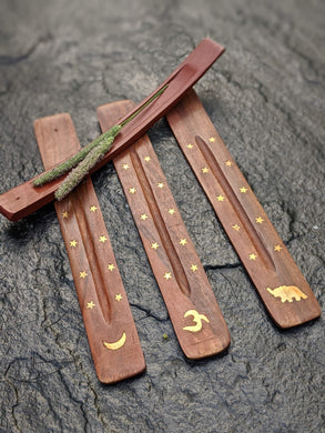 Wooden Incense Holder - Luni
