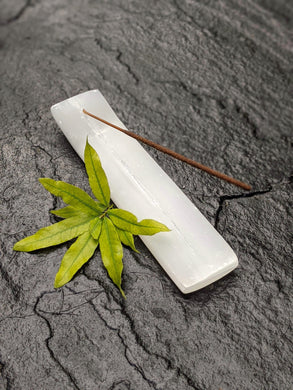 Selenite Incense Holder - Luni
