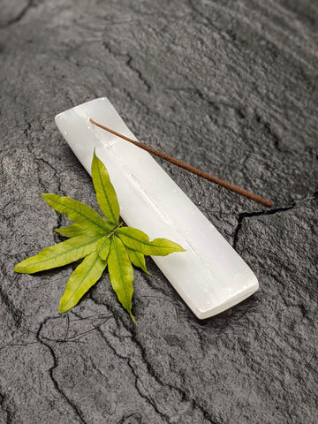 Selenite Incense Holder