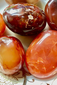 Carnelian Pocket Stones, Small Pillow
