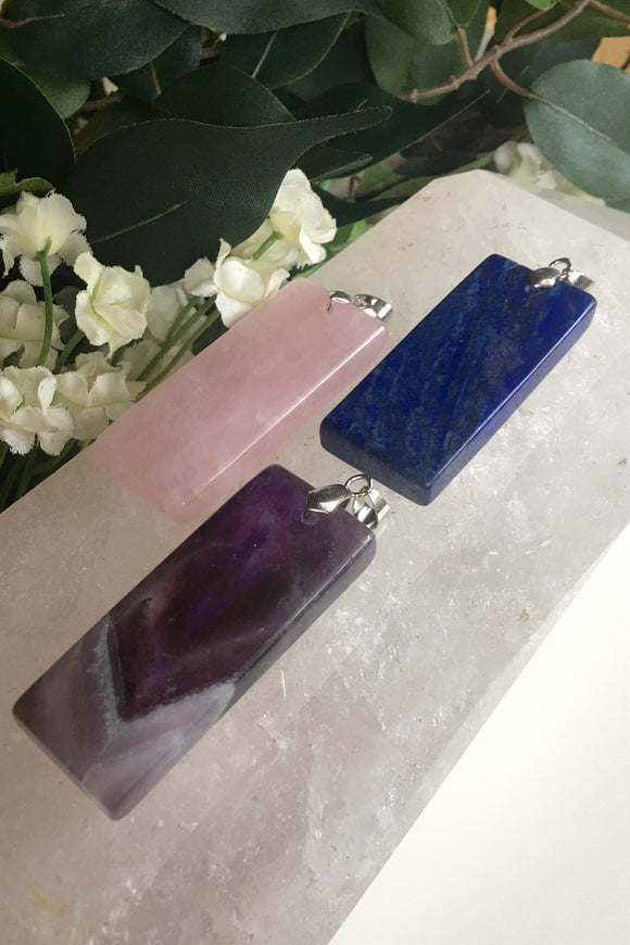 Crystal Bar Pendants