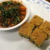 Chilli Con Veggie with Corn Bread