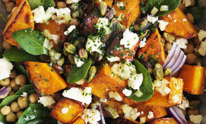 Roasted Jarrahdale Pumpkin & Onion - A warm salad with Quark and Bush Kraut