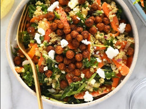 Moroccan Quinoa Salad with Crispy Chickpeas