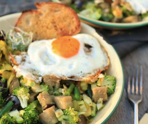 Easy End of Week Veggie Hash